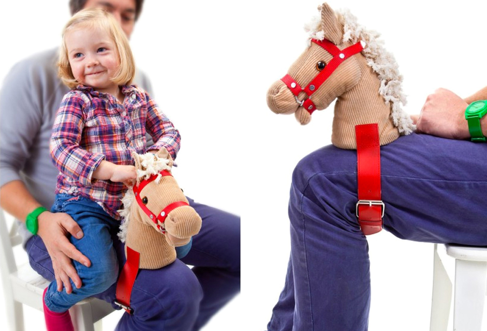 A Horse Head That Straps Onto Your Leg