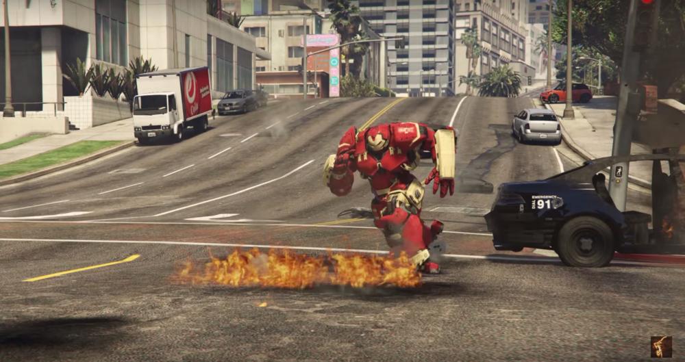 Iron Man's Hulkbuster Mod Created for GTA 5