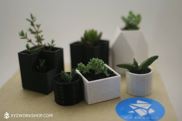 Chess Set With Mini Planters As Playing Pieces