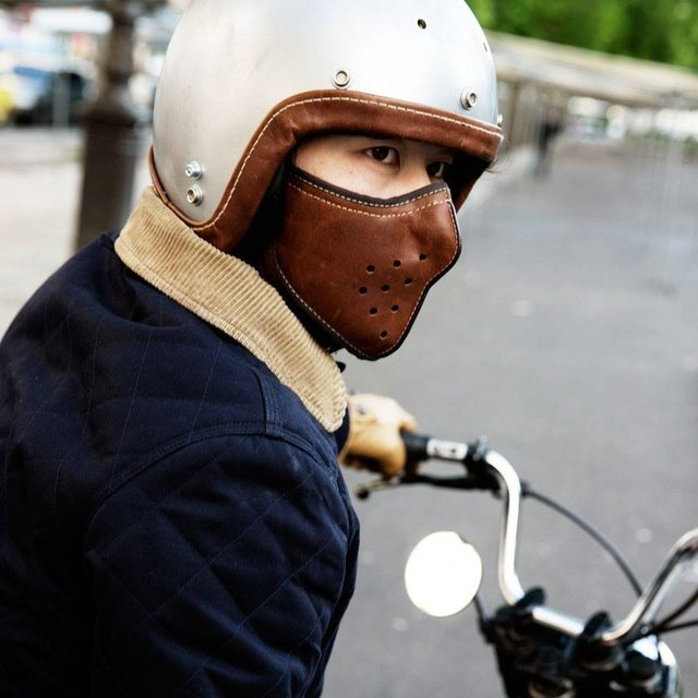 Leather Motorcycle Mask
