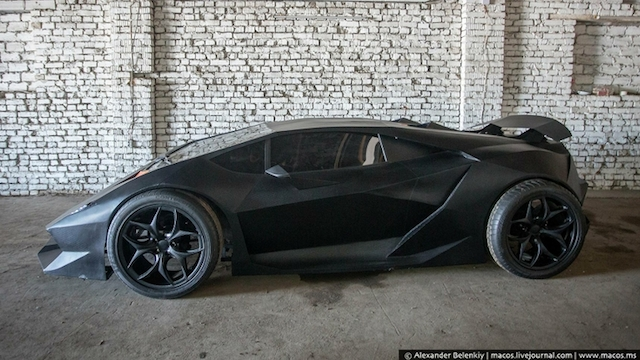 Guys Turned a 30 Year-Old Volvo into a $2 Million Lamborghini Sesto Elemento