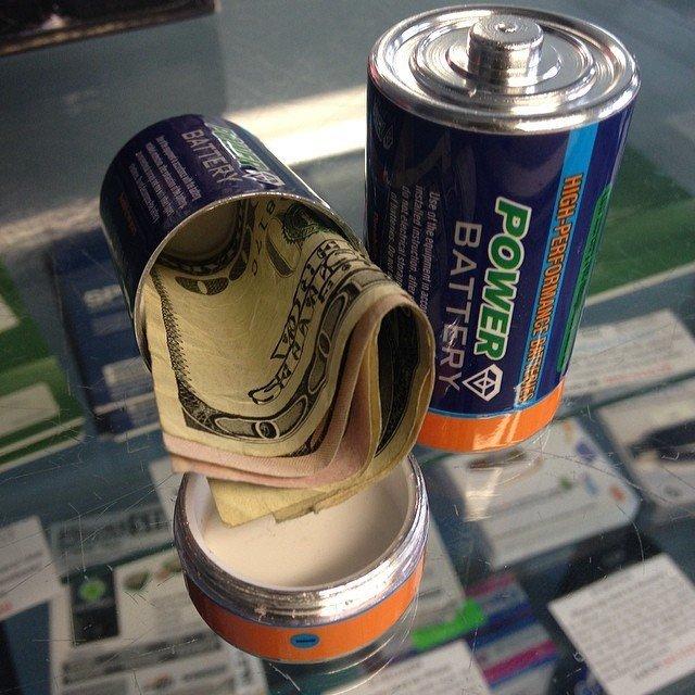 Super Secret Battery Diversion Safe