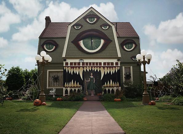 Monster House Halloween House Decoration