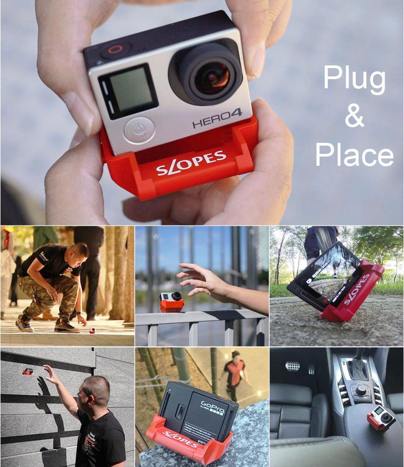 Slopes New Revolutionary Stand Which Give 20 Positions To Your GoPro