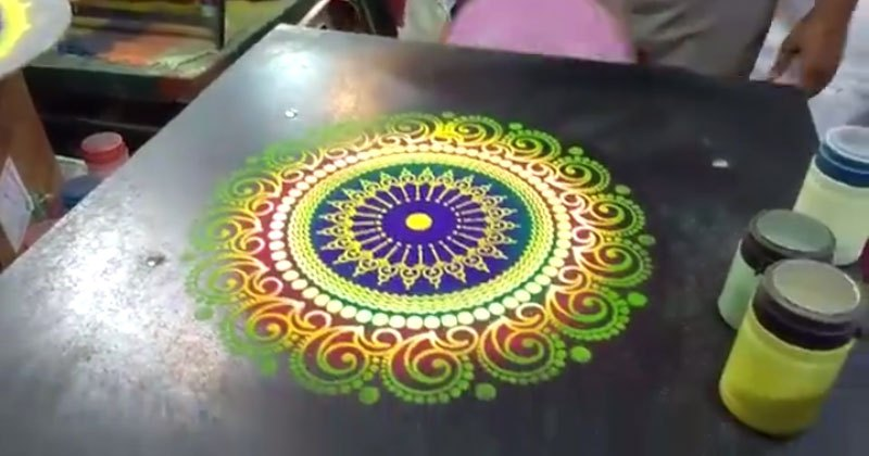Watch This Beautiful Sand Art Being Made in Under 60 Seconds
