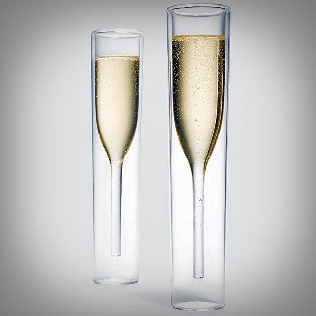 InsideOut Champagne Glass Set