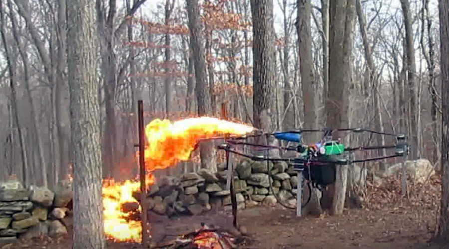 Teen Equips Drone With Flamethrower