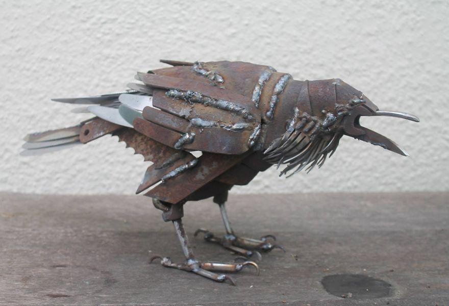 Scrap Metal Turned Into Animals