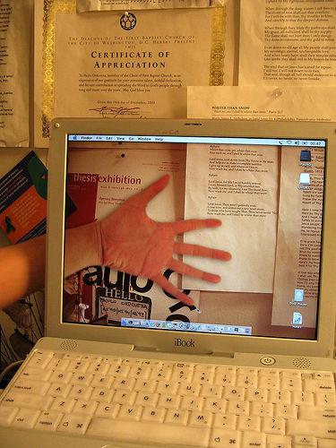 Transparent laptop screen (10)