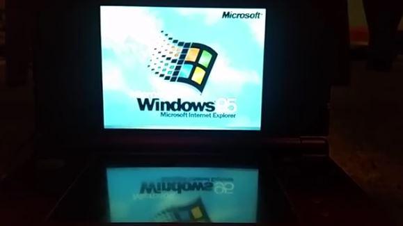 Windows 95 Running On a Nintendo 3DS