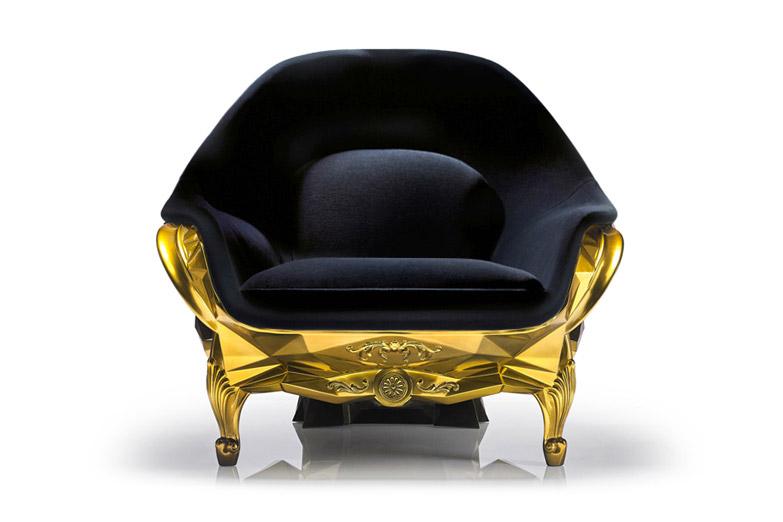 24-Karat Gold Skull Armchair
