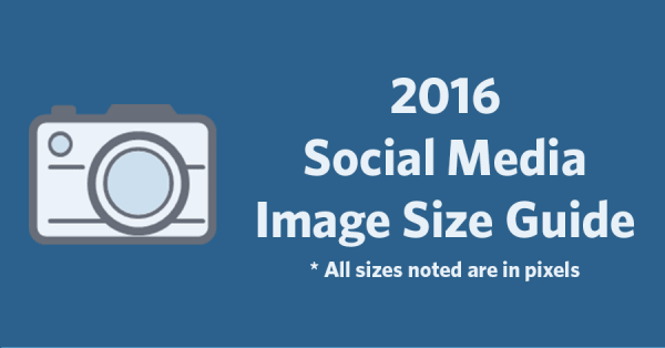2016 Social Media Image Size Sheet