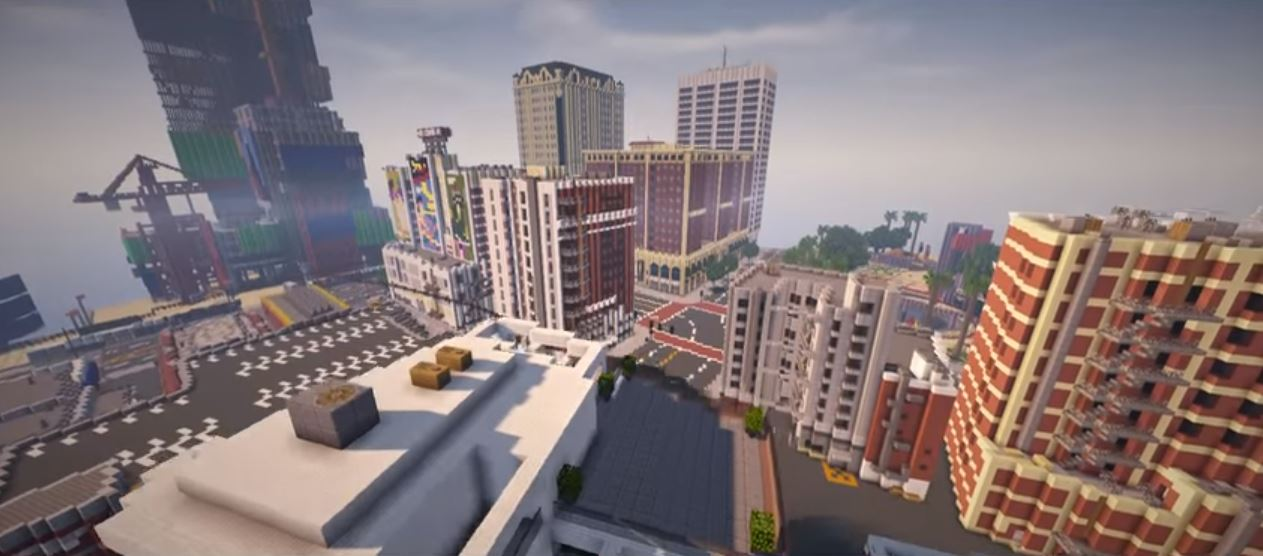 GTA 5 Map Remade in Minecraft