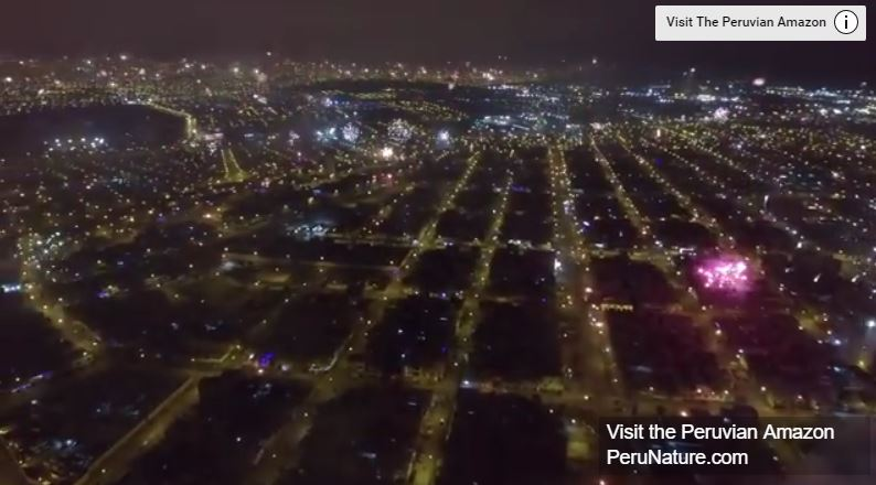 NYE Fireworks Across the Entire City of Lima