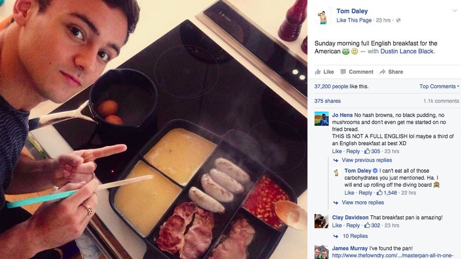 Tom_Daley_frying_pan_FB_post