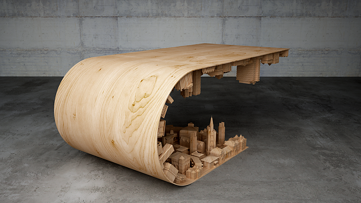 Wave City Coffee Table by Stelios Mousarris