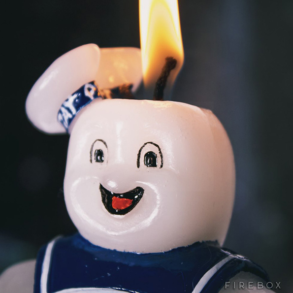 Marshmallow Man Candle