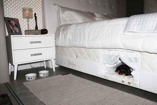 Bed With A Pet Bed Built Into It