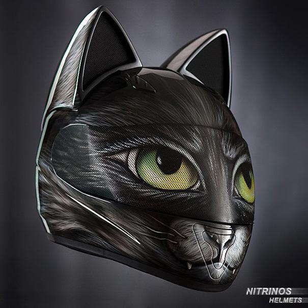 Motorcycle Cat Helmets