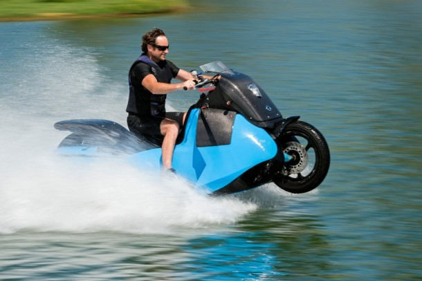 Motorcycle Which Can Transform Into A Jet-Ski