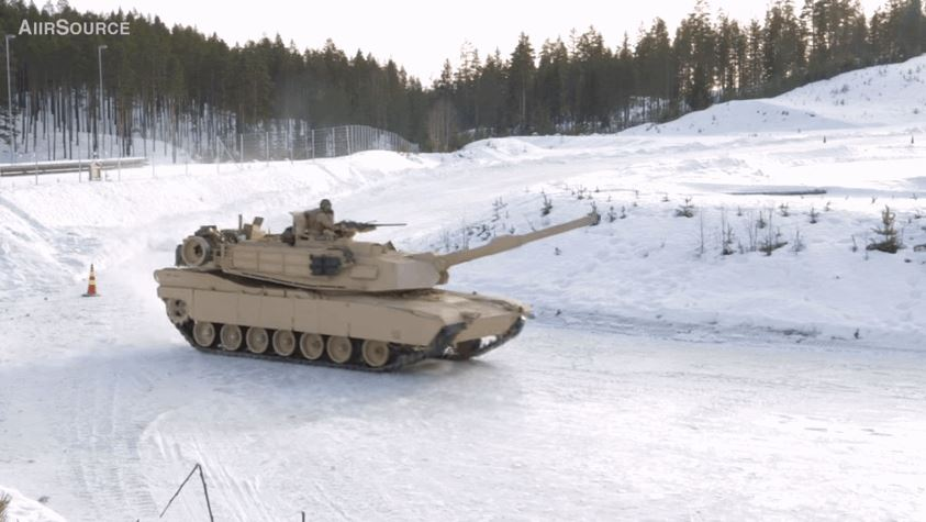 U.S. Marines Drifting Their M1A1 Tanks
