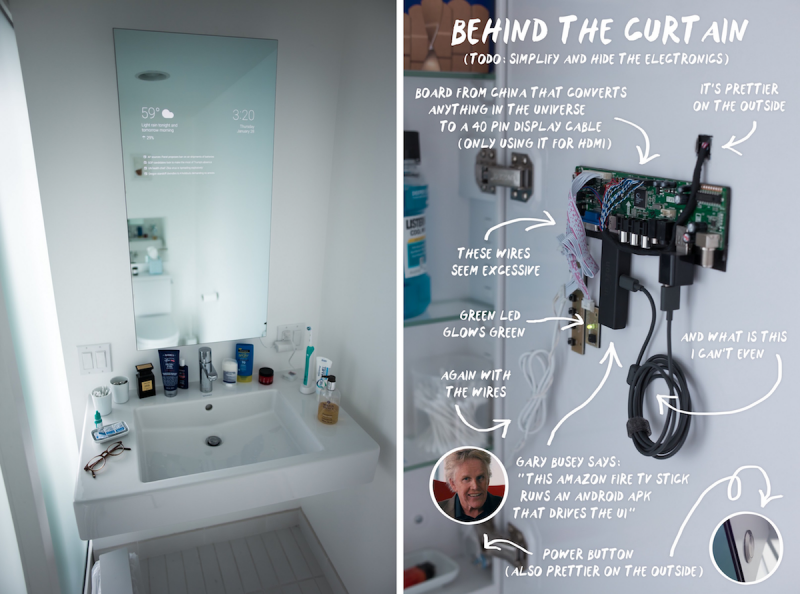 Android Smart Bathroom Mirror