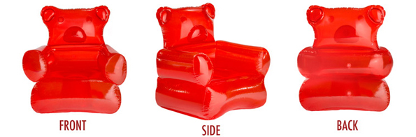 The Giant Inflatable Gummi Bear Chair
