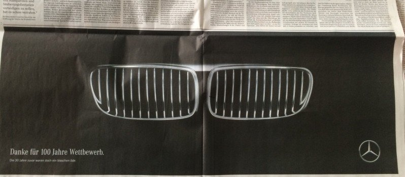 Mercedes Congratulates BMW On Completing 100 Years In This Awesome Advertisement