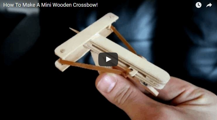 Mini Wooden Crossbow That Shoots Deadly Toothpicks