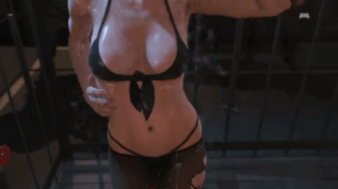 Shower Scene of Quiet From Metal Gear Solid V
