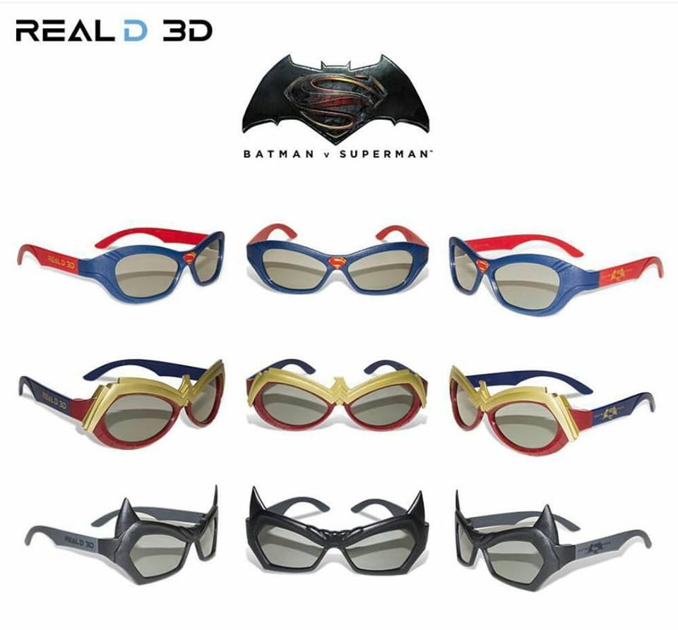 BATMAN V SUPERMAN 3D Glasses