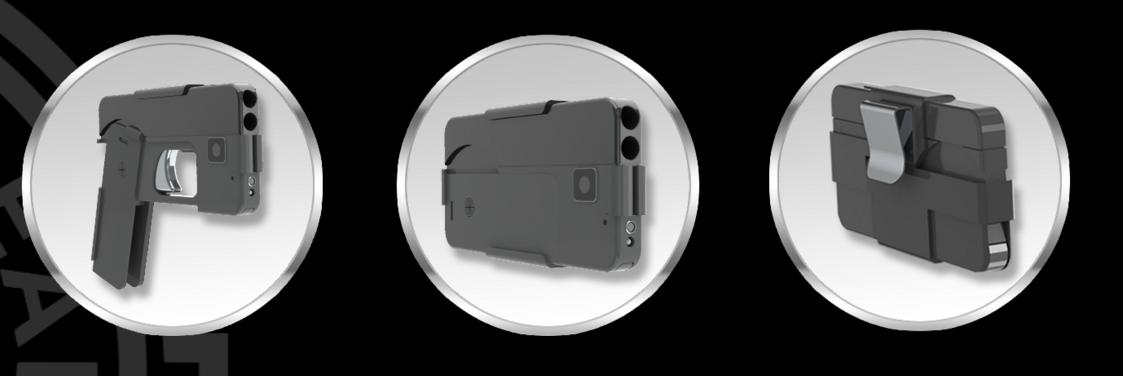 Handgun That Folds Like a Smartphone