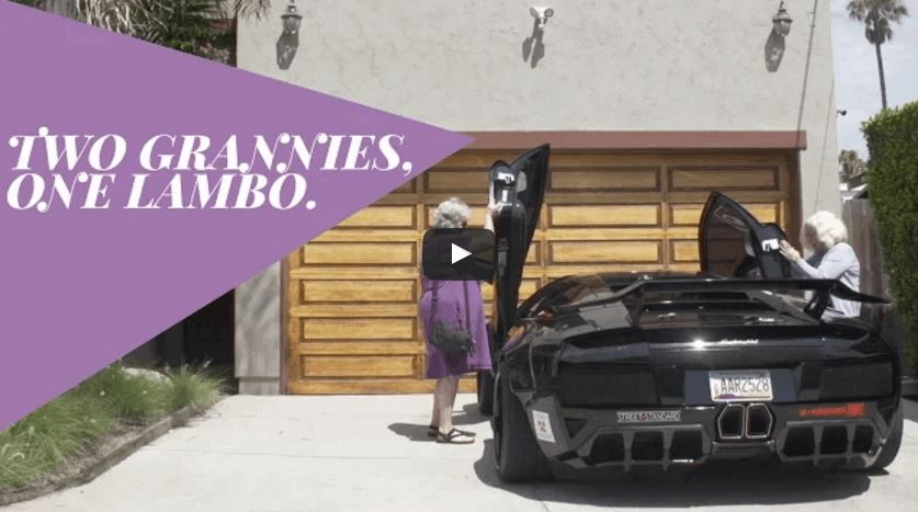 Two Grannies And One Expensive Lamborghini