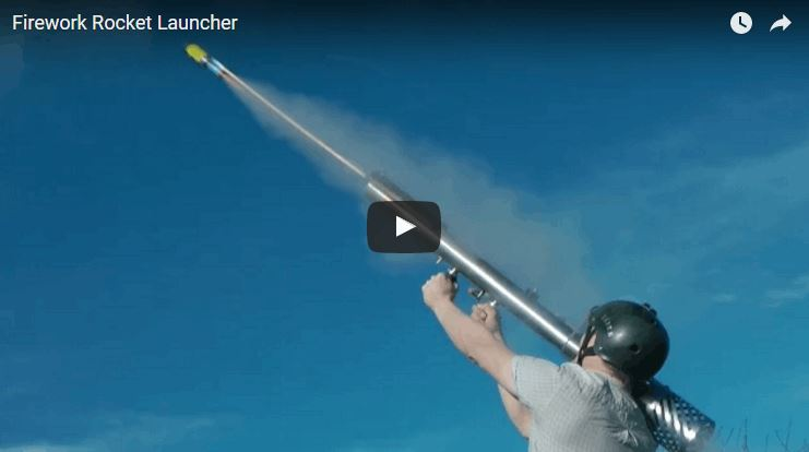 Homemade Fireworks Rocket Launcher