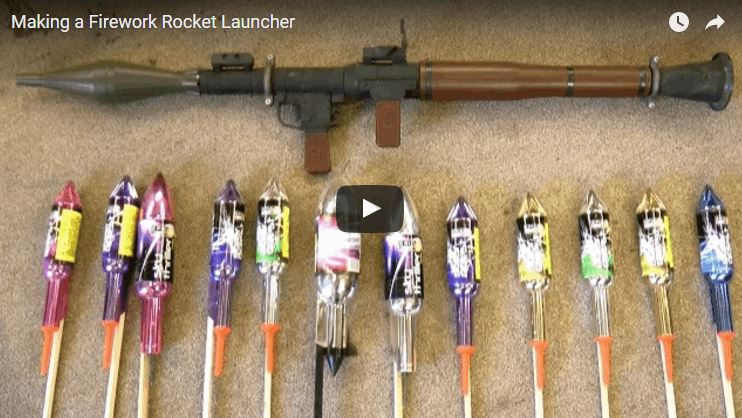 rocket launcher that shoots fireworks