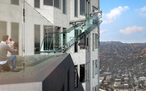 Exterior Slide At Los Angeles Building