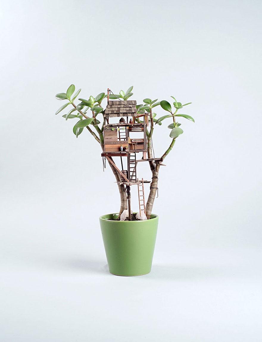 Miniature Tree Houses