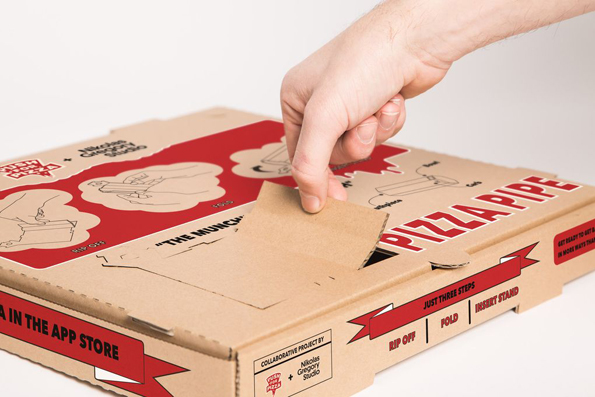 Pizza Box Turns Into A Weed Pipe!