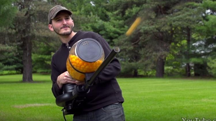 Cheese Ball Machine Gun!