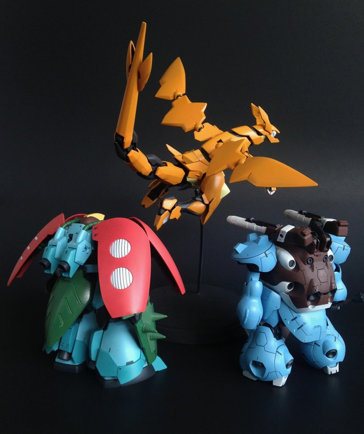 Custom-Made Pokemon Gundam Figures