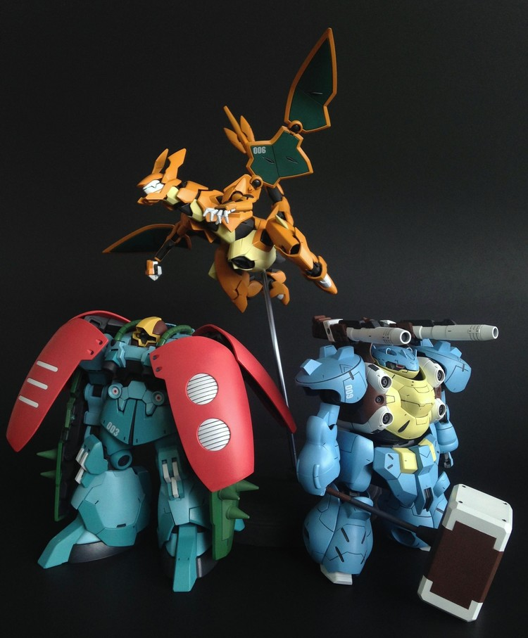 Custom-Made Pokemon Gundam Figures (2)