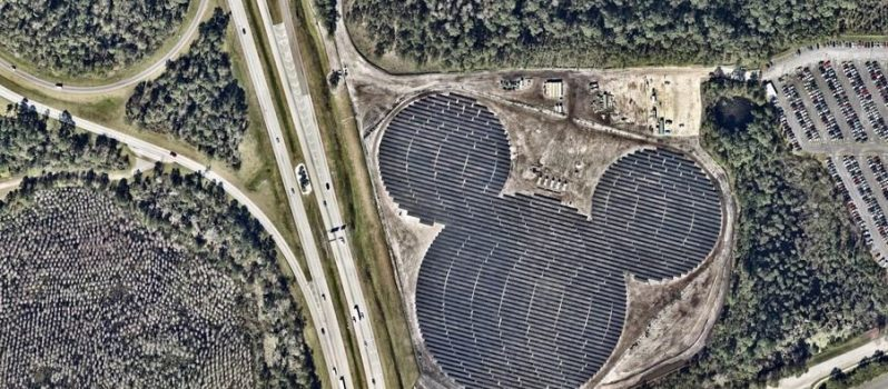 Mickey Mouse Shaped Solar Power Plant in Disney World