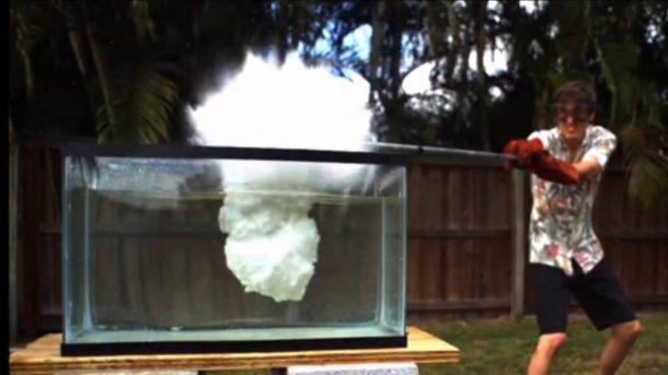 Molten Salt Into A Fish Tank
