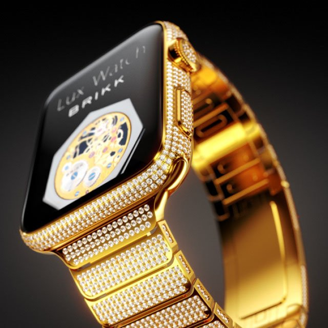 Gold & Diamond Apple Watch