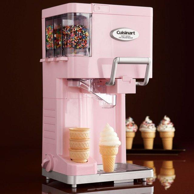Pink Cuisinart Soft Serve Maker