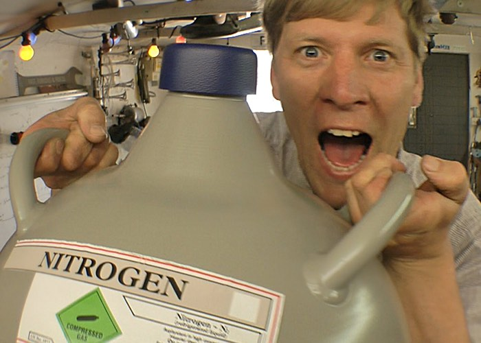 Colin Furze Comes Up With Liquid Nitrogen Freeze Blaster