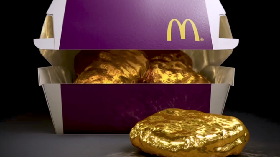 Actual Gold Nugget and Fries By McDonald's Japan