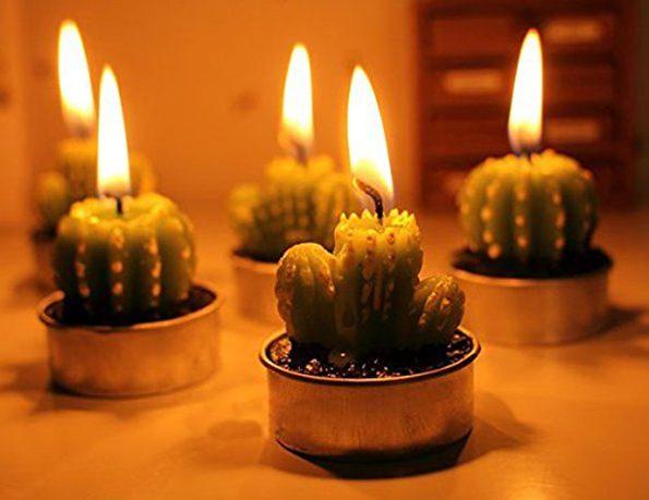 Super Cute Cactus Candles