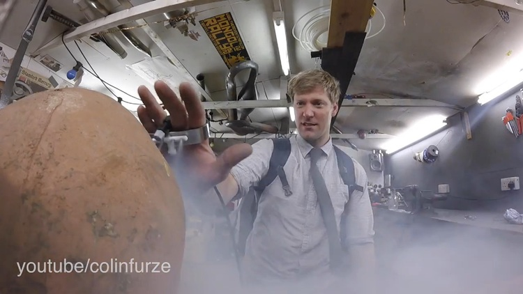 Colin Furze Unleashes His Inner X-Men Powers With Iceman Gloves