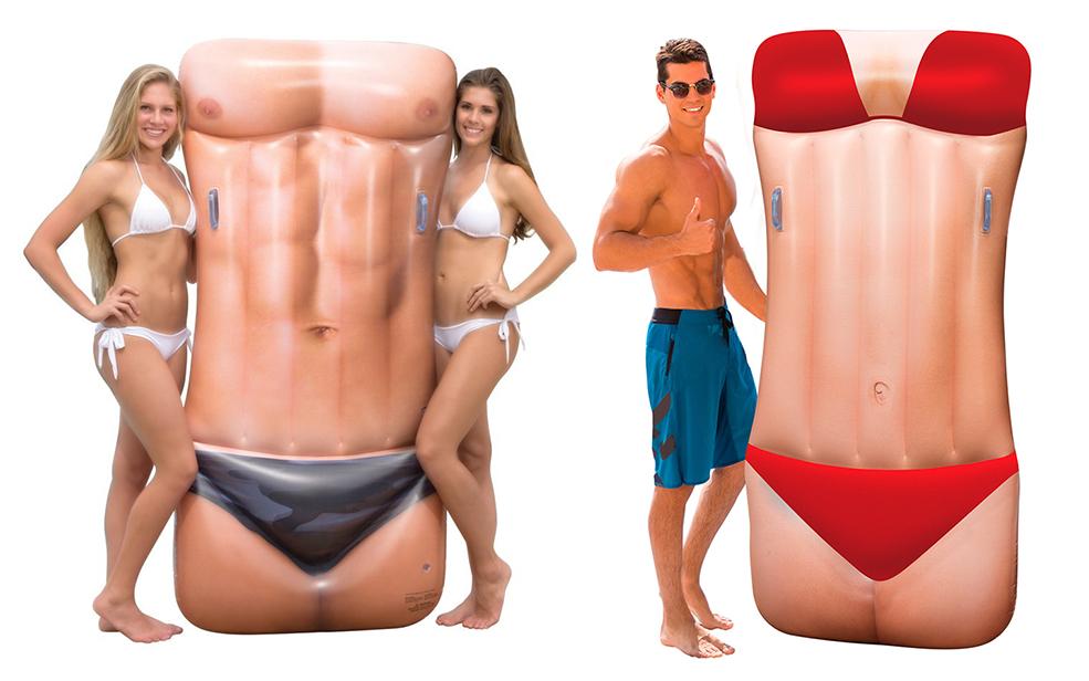 Bikini Babe And Macho Man Pool Floats
